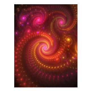 Pink lights fractal postcard