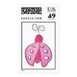 Pink Lil Ladybug Postage Stamps