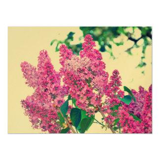 Pink lilac 6.5x8.75 paper invitation card