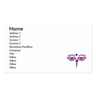 Pink Lilac Buddha Eyes.png Business Card Template