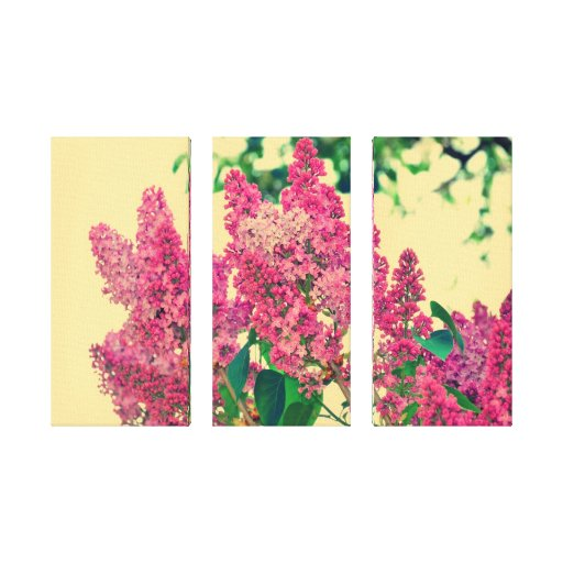 Pink lilac stretched canvas print