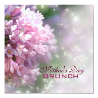 Pink Lilac Mother's Day Brunch Invitation