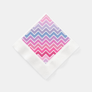 Pink Lilac Ombre Chevron Pattern Disposable Napkin