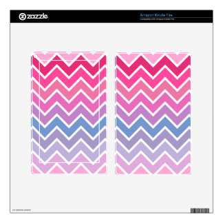 Pink Lilac Ombre Chevron Pattern Kindle Fire Decals