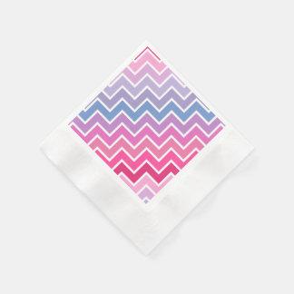 Chevron Pattern Paper Napkins - Paper Format