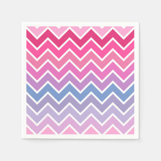 Pink Lilac Ombre Chevron Pattern Paper Napkins