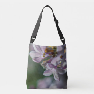Pink Lilacs Floral Nature Photo Cross Body Bag