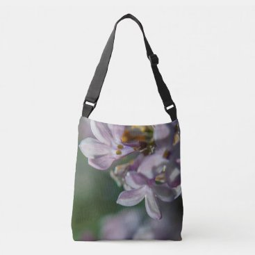 Beach Themed Pink Lilacs Floral Nature Photo Cross Body Bag