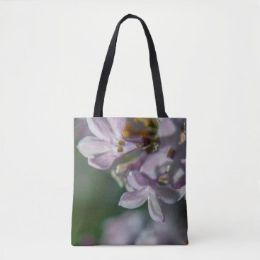 Beach Themed Pink Lilacs Floral Nature Photography Tote Bag