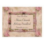 Pink Lilacs Save The Date Postcards