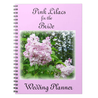 Pink Lilacs Wedding Planner Spiral Notebooks