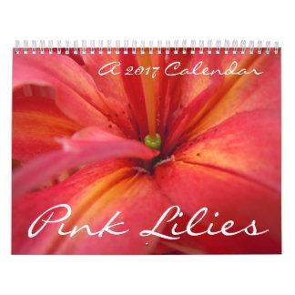 Pink Lilies 2017 Calendar