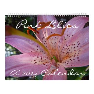 Pink Lilies - A 2014 Calendar