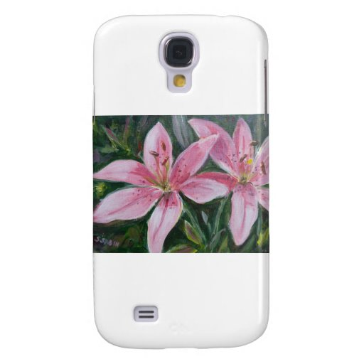 Pink lilies galaxy s4 cases