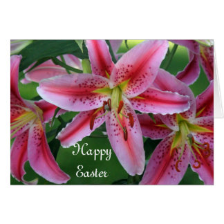 Pink Lilies Easter Card