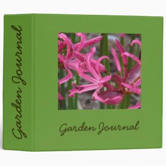 """Pink Lilies Garden Journal - Avery 2"""" Binder"""