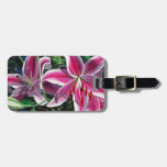Pink Lilies II Tag For Bags