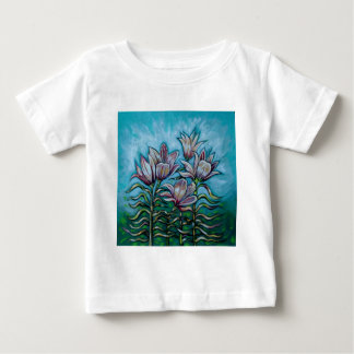 Pink Lilies in Sunny Sky Baby T-Shirt