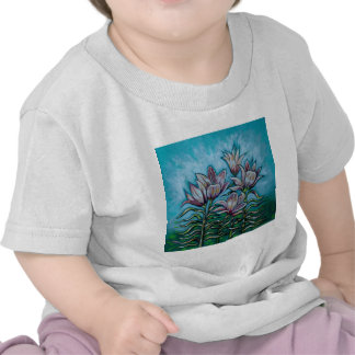 Pink Lilies in Sunny Sky Tee Shirts