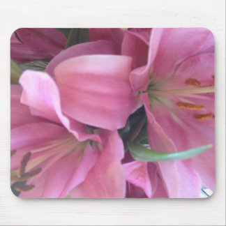 Pink lilies mousepads