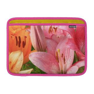pink lilies sleeves for MacBook air