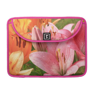 pink lilies sleeves for MacBooks