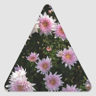 Pink Lilies Triangle Sticker