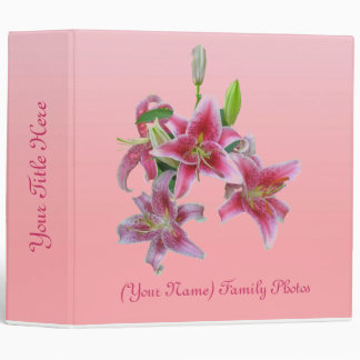 Pink Lillies Binder