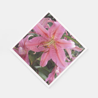 Pink Lillies Napkins
