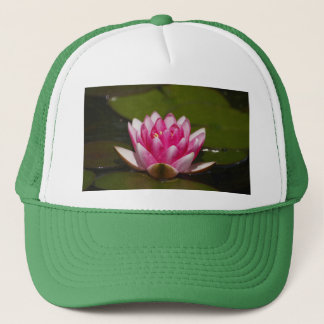 Pink Lilly and Lilly Pads Trucker Hat