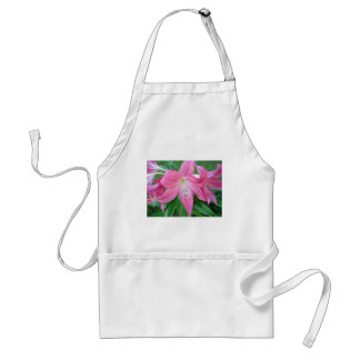 Pink Lilly Blooms Adult Apron