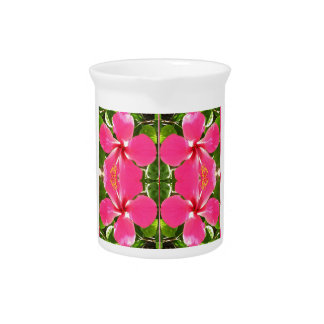Pink Lilly Lily Flowers FUN TEMPLATE Resellers Beverage Pitcher