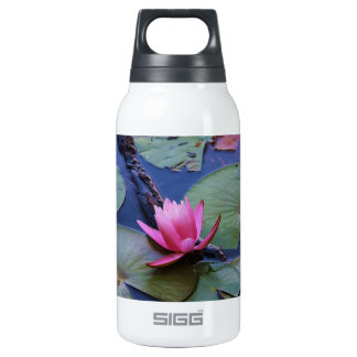 Pink Lilly Pad Insulated Water Bottle