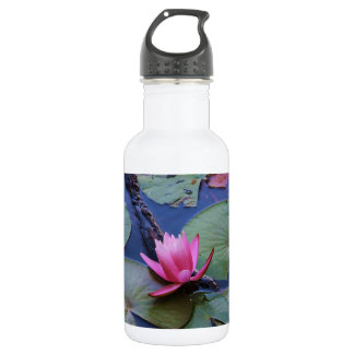 Pink Lilly Pad Water Bottle