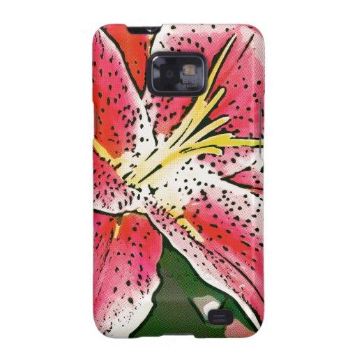 Pink Lilly Samsung Galaxy SII Case