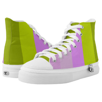 Pink Lilly Stripes High-Top Sneakers