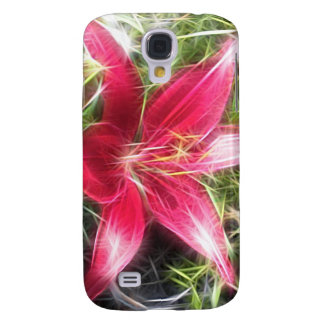 Pink Lily Abstract Edit Samsung Galaxy S4 Covers