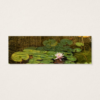 pink lily bookmark or skinny business cards