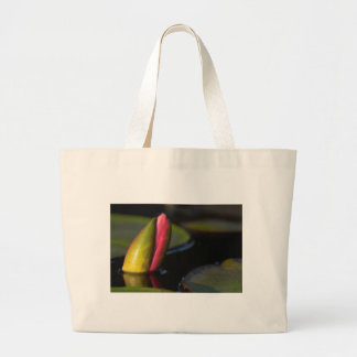 Pink Lily Bud Large Tote Bag