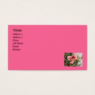 pink lily business card