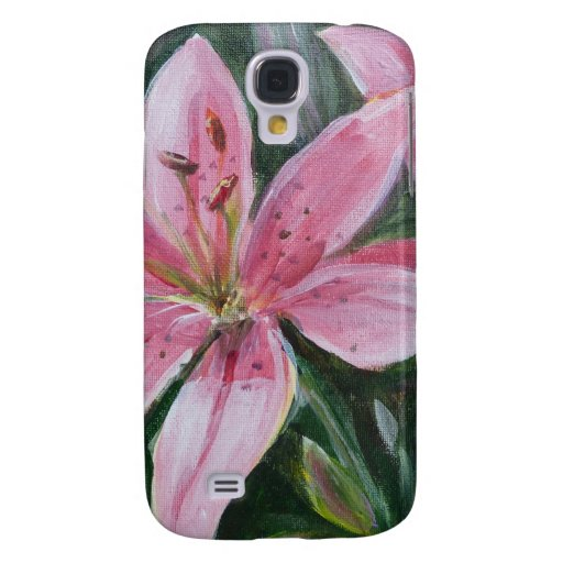 Pink lily samsung galaxy s4 covers