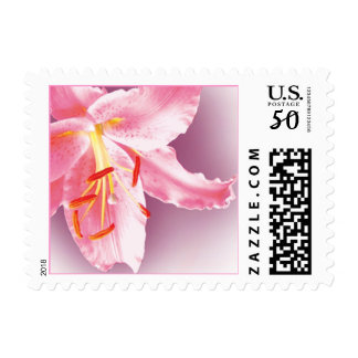 Pink Lily Custom Postage (Sml)