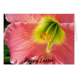 Pink LIly Easter Card