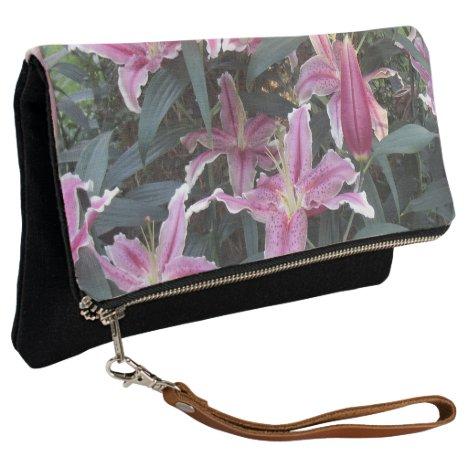 Pink Lily Field Clutch