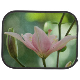 Pink Lily Floor Mat