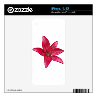 Pink Lily Flower Blossom  Close Up iPhone 4S Skin