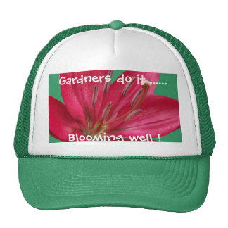 Pink Lily Flower Blossom  Close Up Trucker Hat