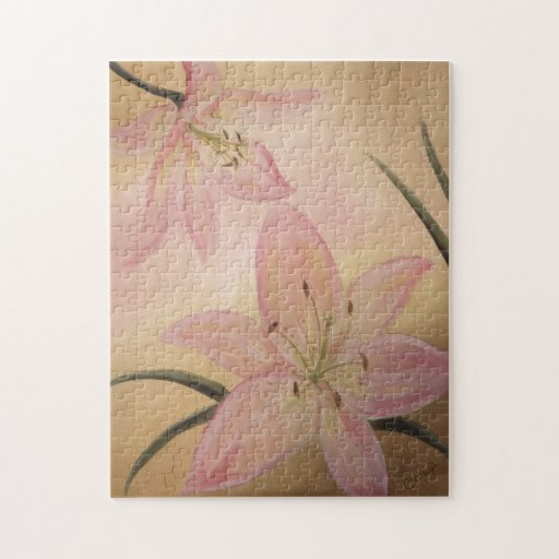 Pink Lily Flower Puzzle