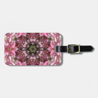 Pink Lily Fusion Kaleidoscope Luggage Tags
