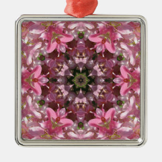 Pink Lily Fusion Kaleidoscope Christmas Ornament